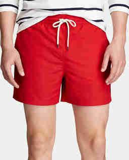Czerwone spodenki kąpielowe Slim Fit