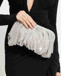 Srebrna torebka z kryształami Wenus Large