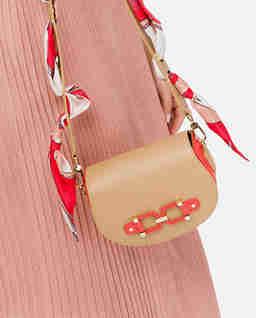 Beżowa torebka z apaszką