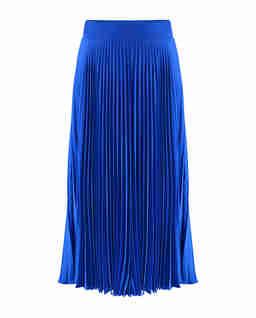 Plisowana spódnica Lang w kobaltowym kolorze