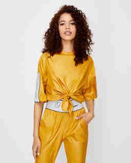 Żółta bluzka ortalionowa