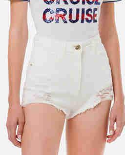 Białe jeansowe spodenki