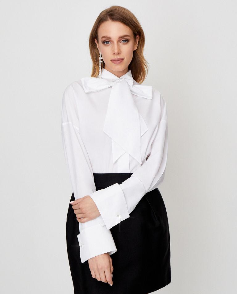 Biała koszula z wiązaniem Alexandre Vauthier