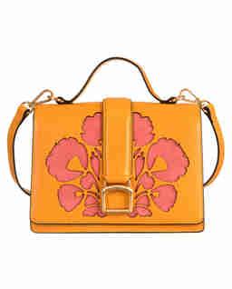 Żółta torebka ze wzorem
