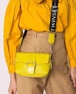 Żółta skórzana torba Rebel