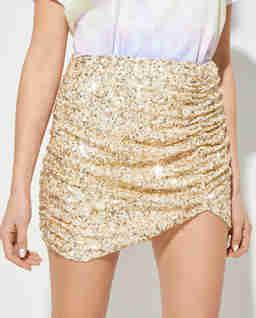 Złota spódnica z cekinami