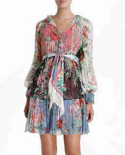 Jedwabna sukienka w kwiaty Bellitude