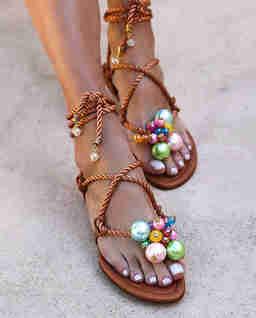 Skórzane sandały Bubblicious