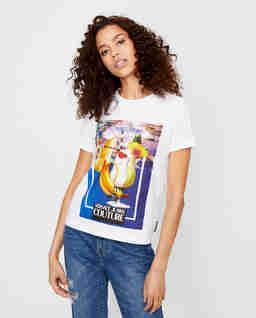 Bílé tričko s grafickým potiskem