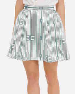 Spódnica mini z koła w marynarskim stylu