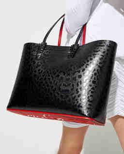 Skórzana torebka w cętki Cabata