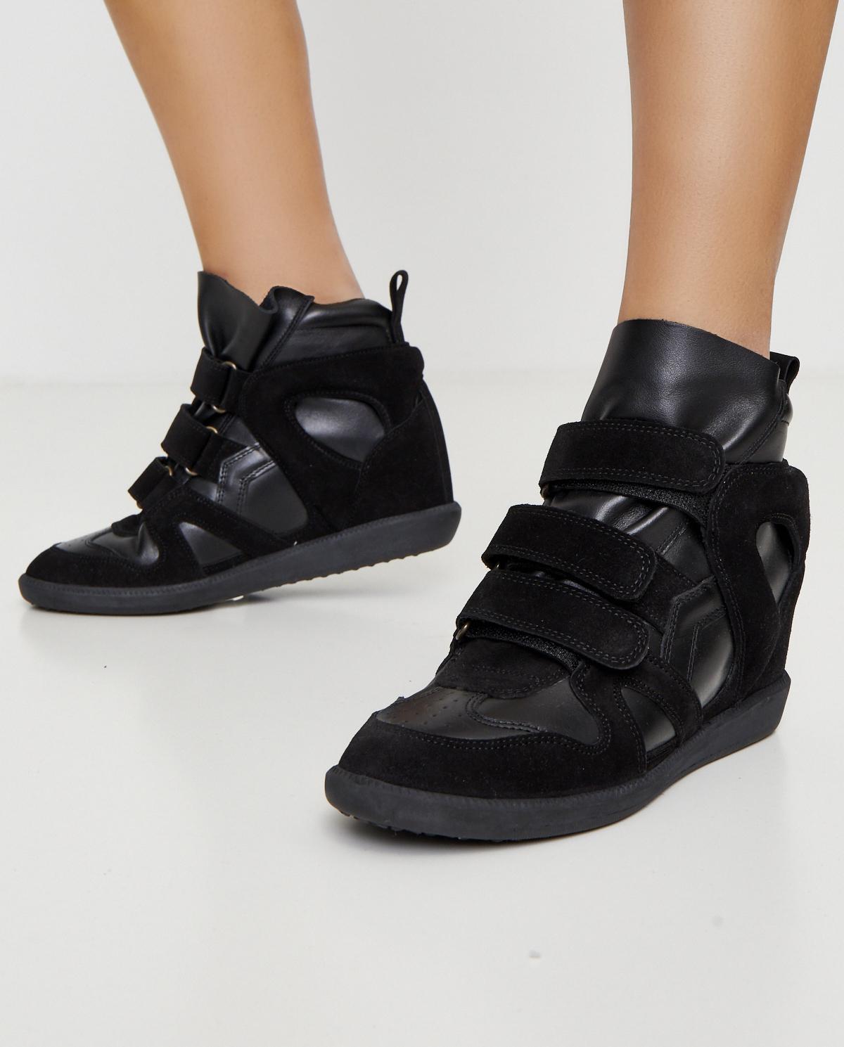 Czarne Sneakersy Buckee Na Ukrytym Koturnie 5 Cm Isabel Marant Cena I Opinie Sklep Internetowy Moliera2 Com
