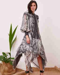 Jedwabna sukienka Medusa