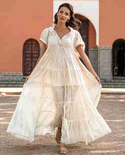 Zwiewna sukienka maxi ANTIBES