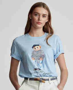 Niebieski t-shirt z misiem
