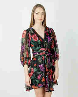 Sukienka mini w kwiatowy wzór