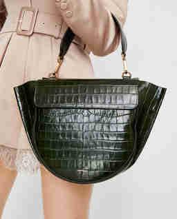 Tmavě zelená kabelka Hortensia Medium