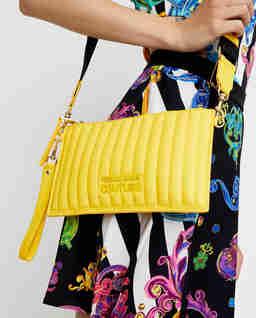 Żółta torebka ze skóry ekologicznej