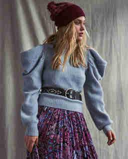 Błękitny sweter z kaszmiru Potter