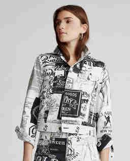 Jeansowa kurtka z grafiką