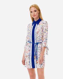 Koszulowa sukienka z printem