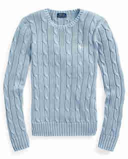 Niebieski sweter z bawełny
