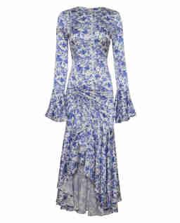 Jedwabna sukienka w kwiaty Monique