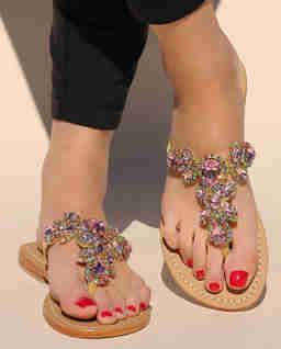 Sandały z kryształami Boca Raton