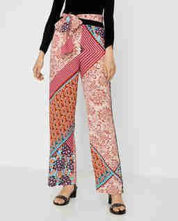 Szerokie spodnie z nadrukiem Stracotto