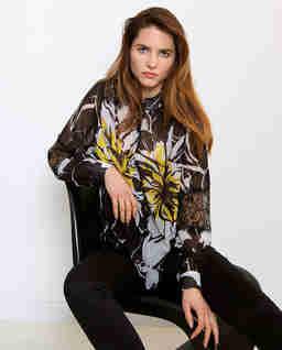 Szyfonowa koszula z koronką