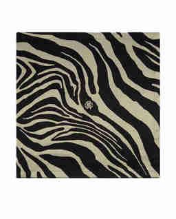 Czarna serweta z motywem zebry Zebrage