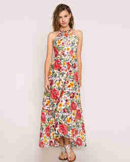 Sukienka w kwiaty maxi
