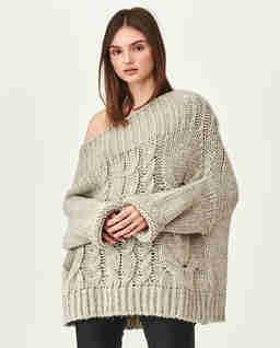 Szary sweter oversize'owy Tana