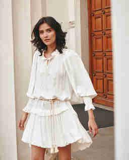 Biała sukienka bombka BALI