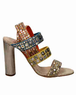 Zdobione sandały na słupku Babilonia