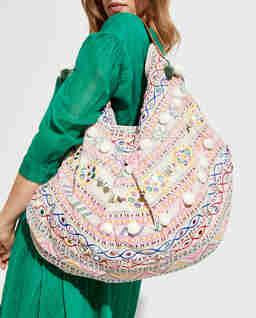 Tkaná kabelka typu shopper Iona
