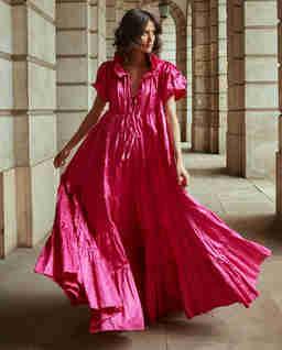 Rozkloszowana sukienka maxi SAINT TROPEZ