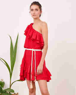 Sukienka mini z falbanami SEVILLE