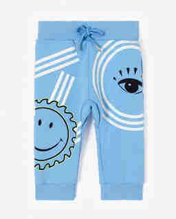 Niebieskie spodnie dresowe z logo