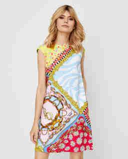 Sukienka mini z nadrukiem