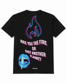 Czarny t-shirt FIRE