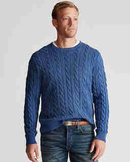 Bawełniany sweter w warkocz