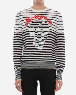 Wełniany sweter z czaszką