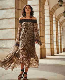 Wzorzysta sukienka maxi DAKAR