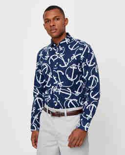 Koszula w kotwice Slim Fit