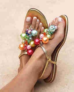 Złote sandały Bubblicious