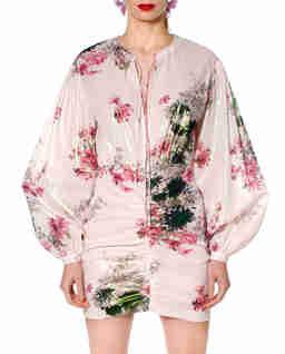 Różowa sukienka z połyskiem Priscilla