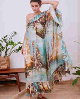 Wzorzysta sukienka maxi VENICE