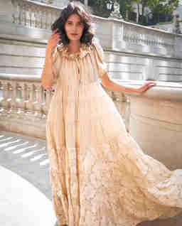 Rozkloszowana sukienka maxi EZE
