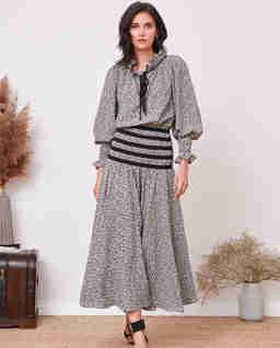 Wzorzysta sukienka maxi FARO